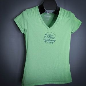 Toad & Co Womens T Shirt Top Small Green V Neck